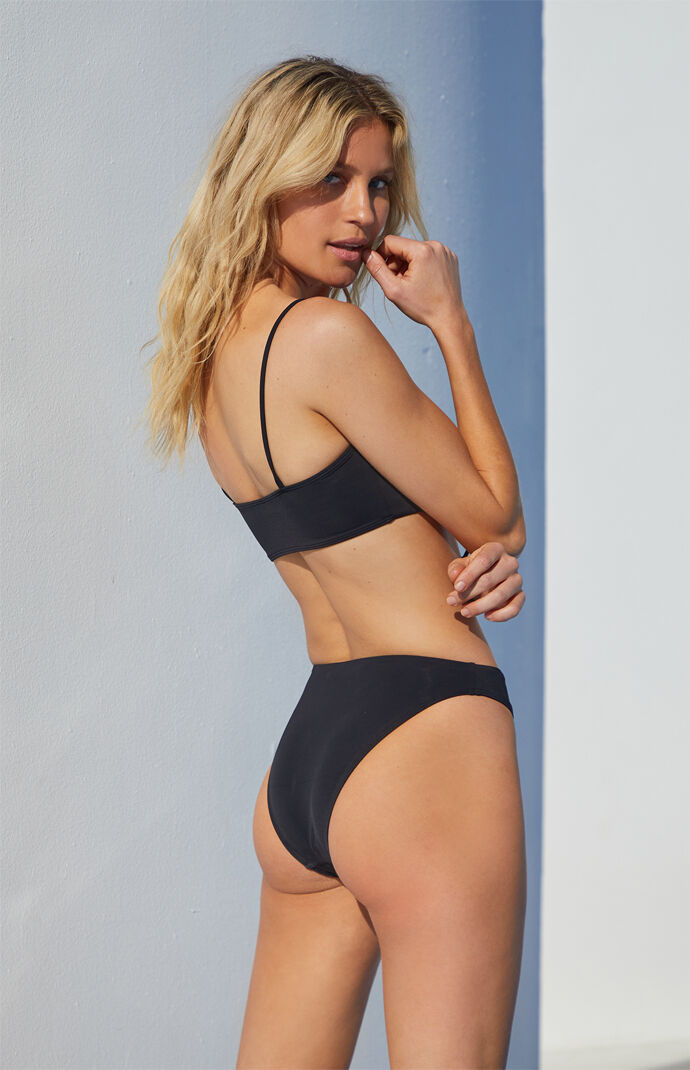 Black Gia High Waisted Bikini Bottom