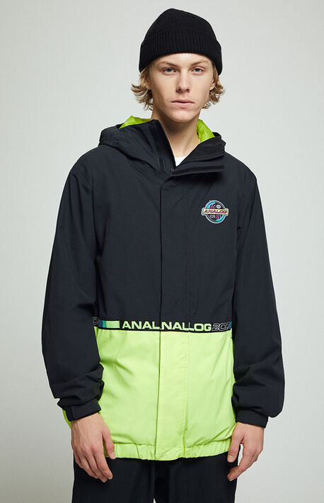 Black & Neon Blast Snow Jacket