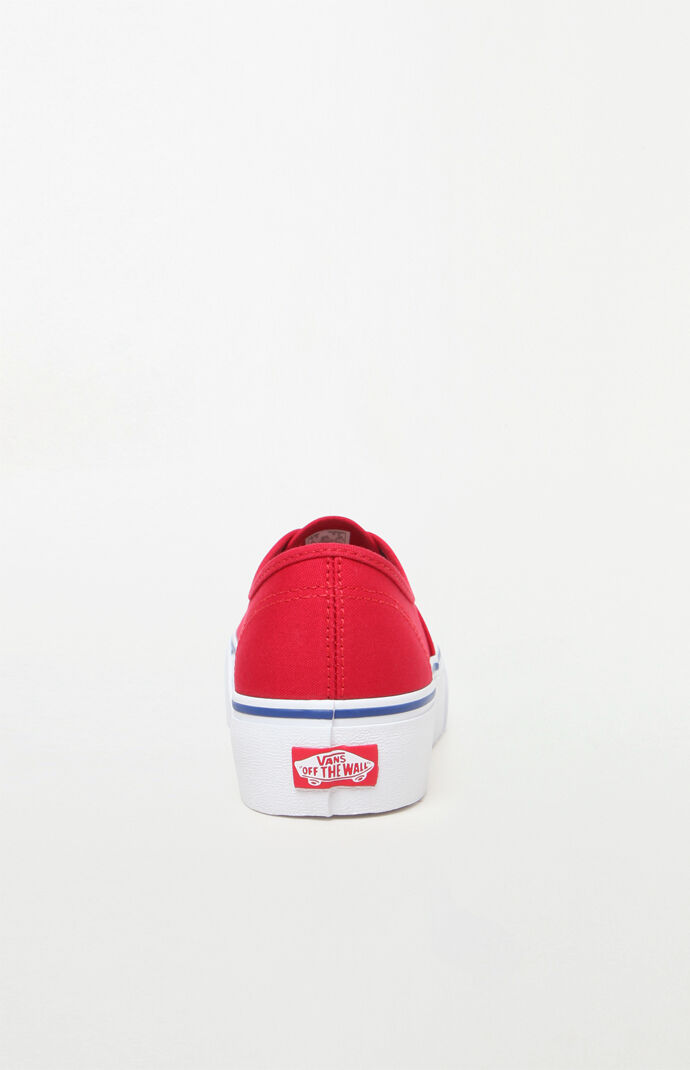 f2251e9e76bb1b Vans Women s Red Authentic Platform 2.0 Sneakers at PacSun.com