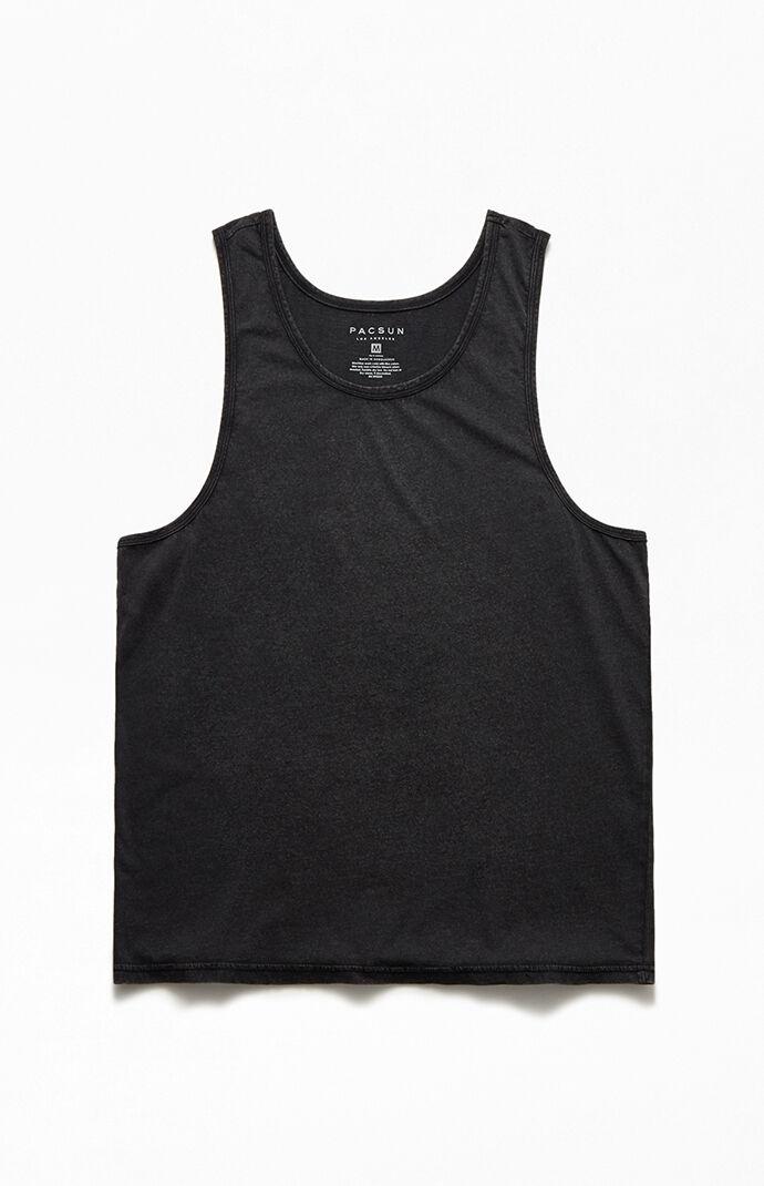Black Acid Wash Tank Top