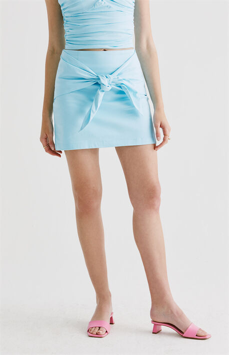 Adalyn Tie Front Mini Skirt