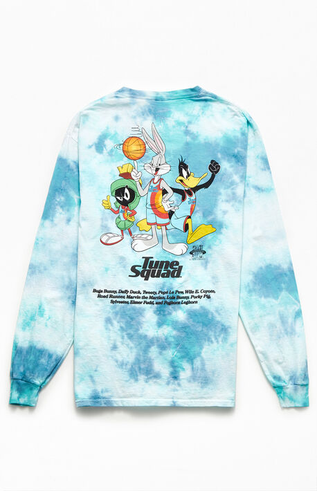 Space Jam Tie-Dyed Puff Long Sleeve T-Shirt