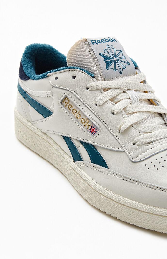 Off White & Blue Club C Revenge Shoes