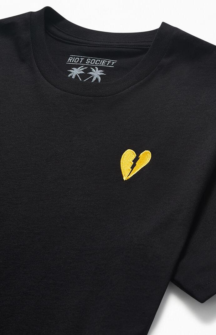 Broken Heart Embroidered T-Shirt