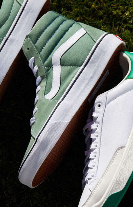 Green UA Sk8-HI Shoes