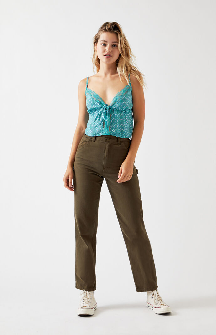 Lace Tie Front Cami Top
