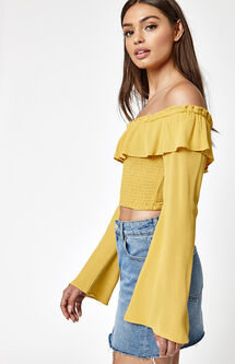 Ruffle Smocked Top