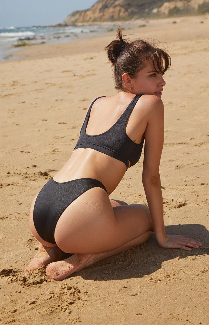 Black Miami Cutout Cropped Bikini Top