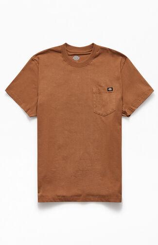 Heavyweight Brown Pocket T-Shirt