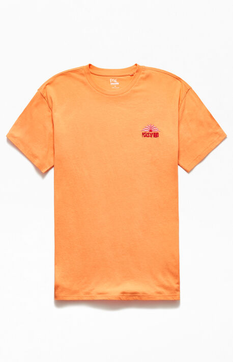 Peace Embroidered Regular T-Shirt