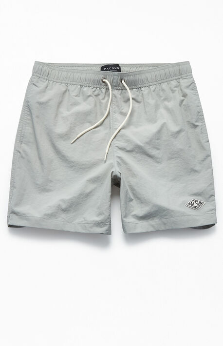 "8f45d8e03f Solid Color 17"" Swim Trunks"