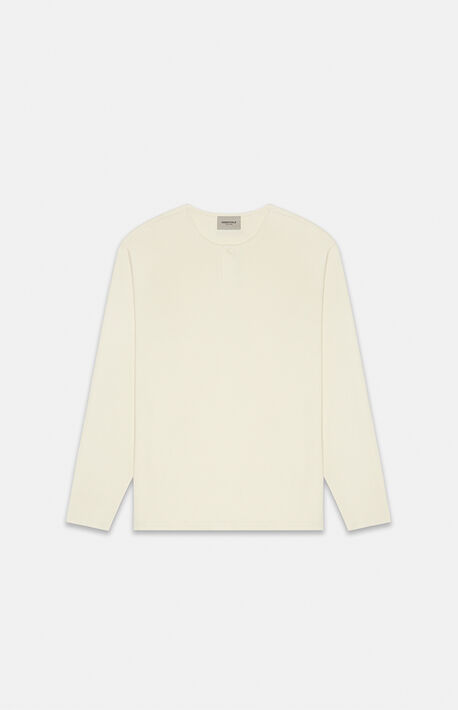 Essentials Cream Thermal Long Sleeve Henley T-Shirt