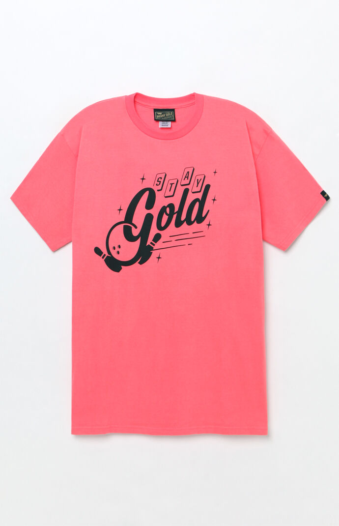 Benny Gold Mens Strike T-Shirt - Coral 7915721