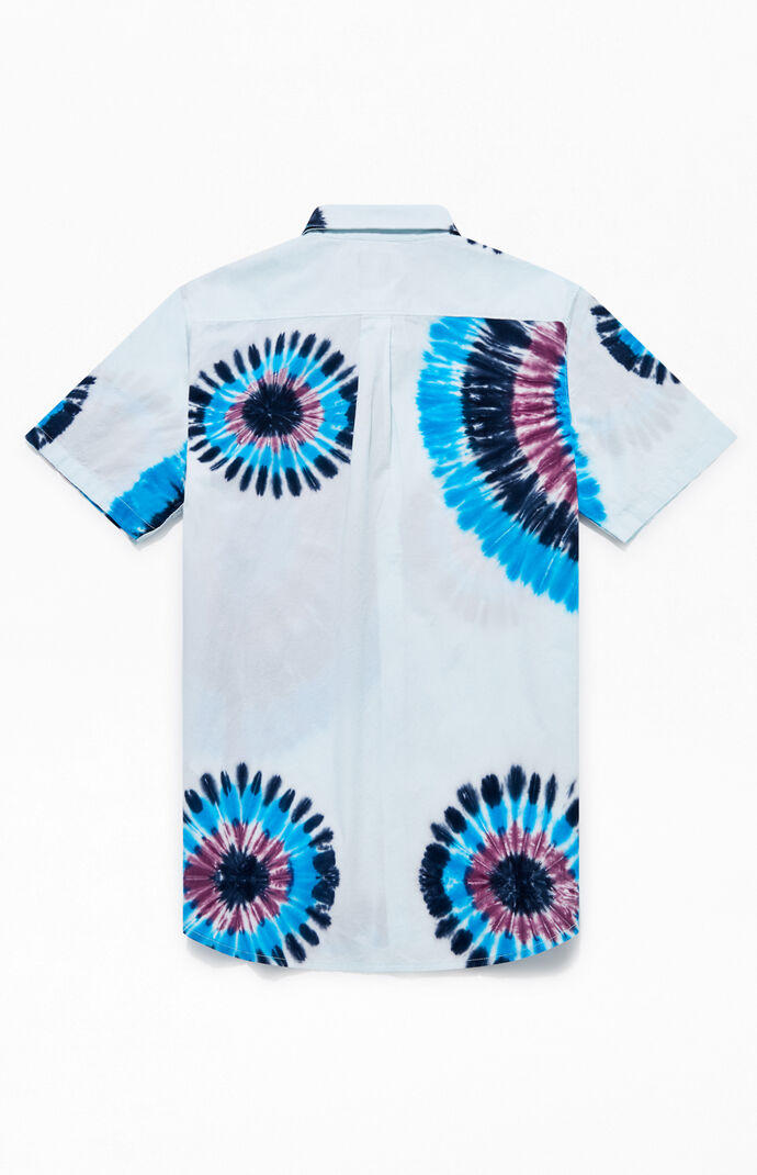 Tie-Dyed Short Sleeve Button Up Shirt