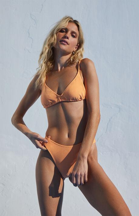 Eco Orange Carson Terry Bralette Bikini Top