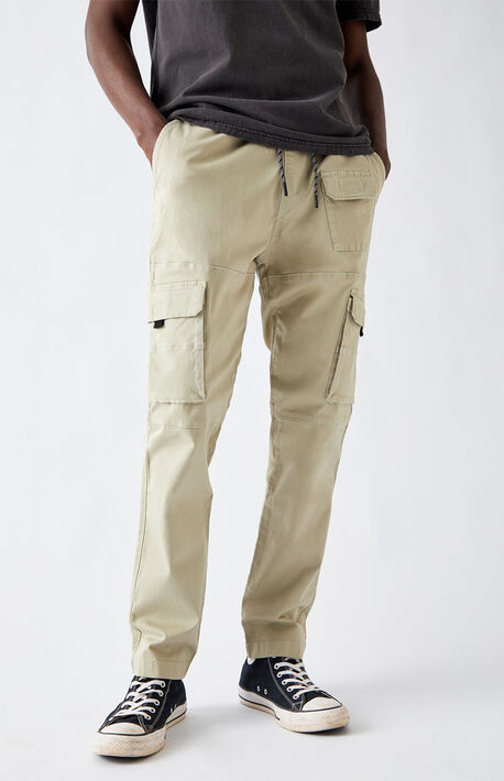Utility Light Green Slim Cargo Pants