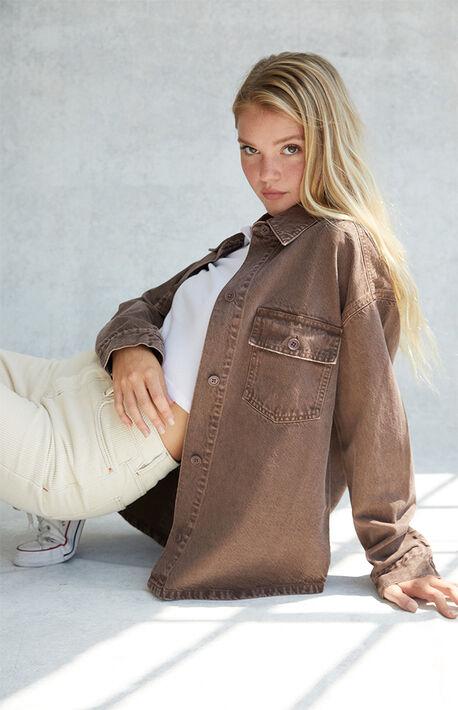 Milk Chocolate Shirt Jacket