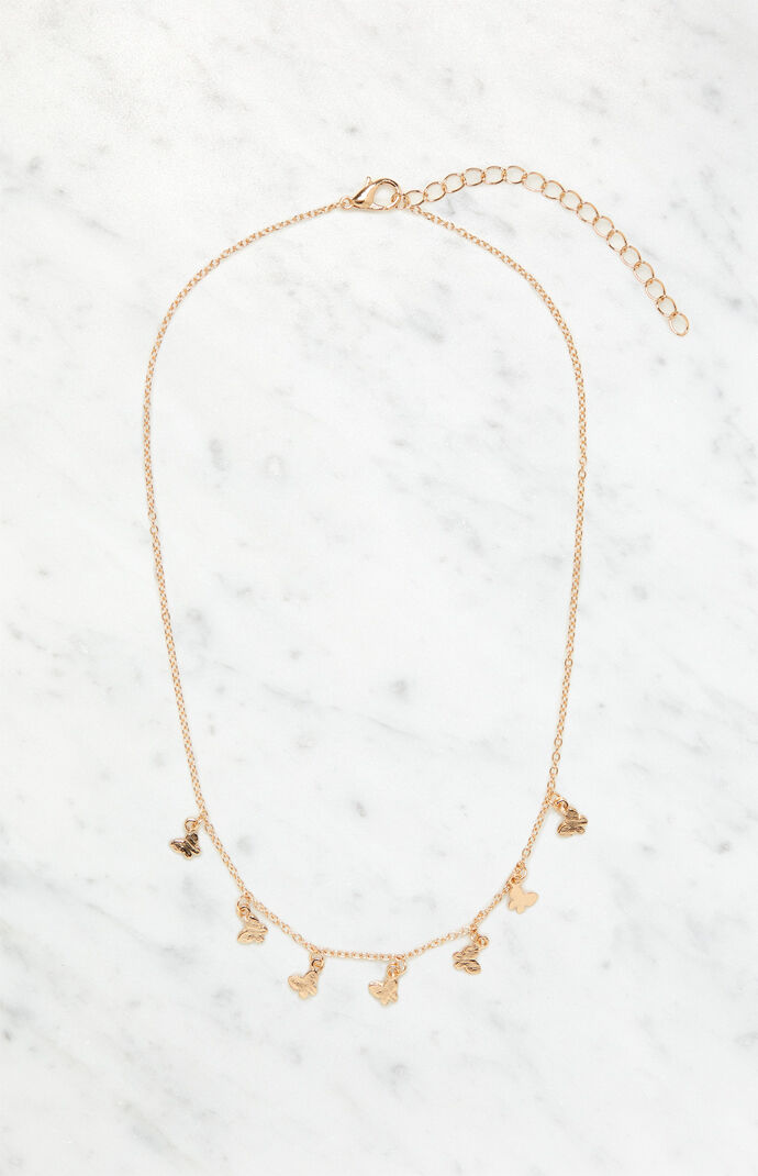 Mini Multi Butterfly Necklace