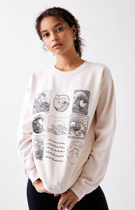 Wave Chart Crew Neck Sweatshirt