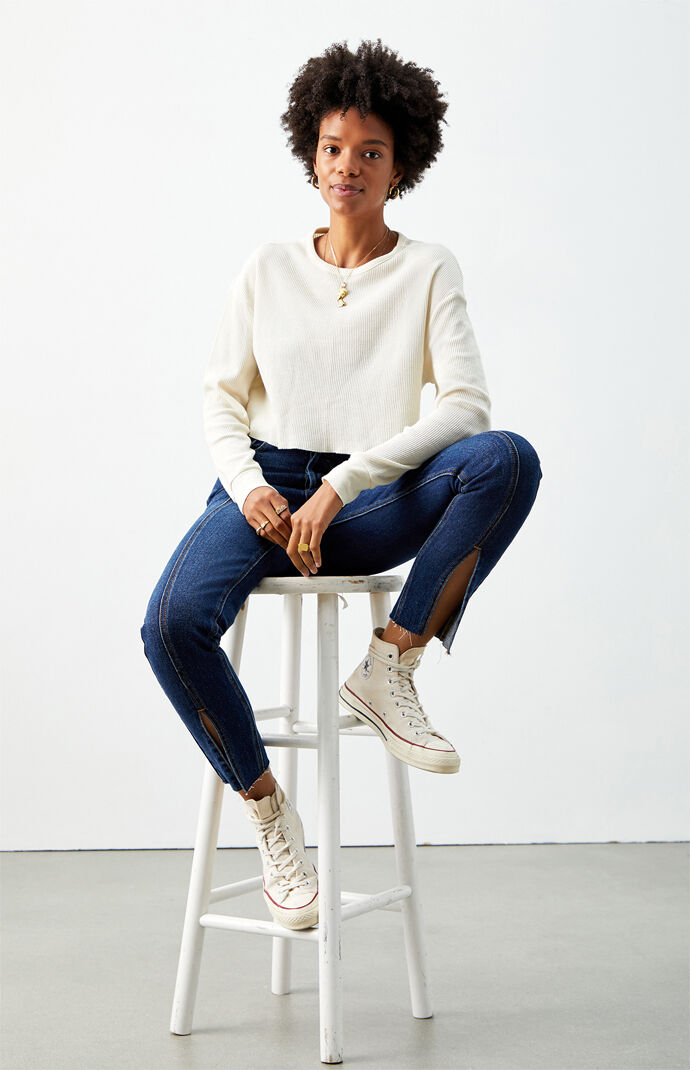 PacCares Memories Waffle Knit Long Sleeve Top at PacSun.com