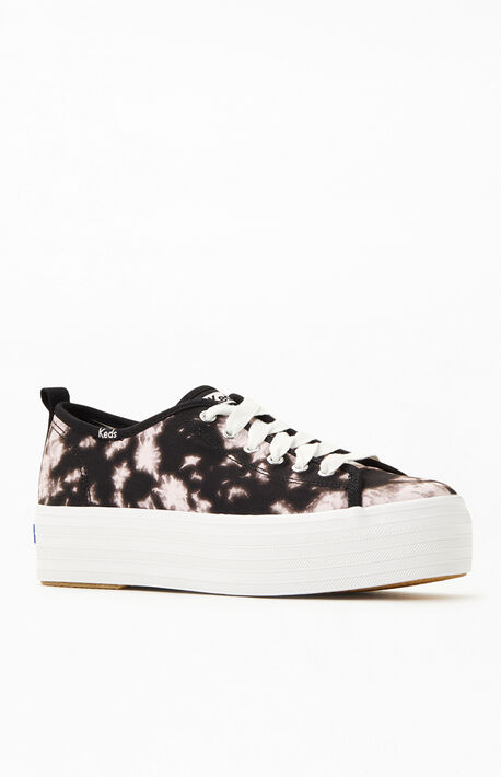 Women's Triple Tie-dyed Platform Sneakers