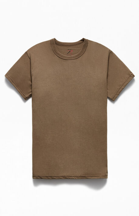 Brown Solid Color T-Shirt