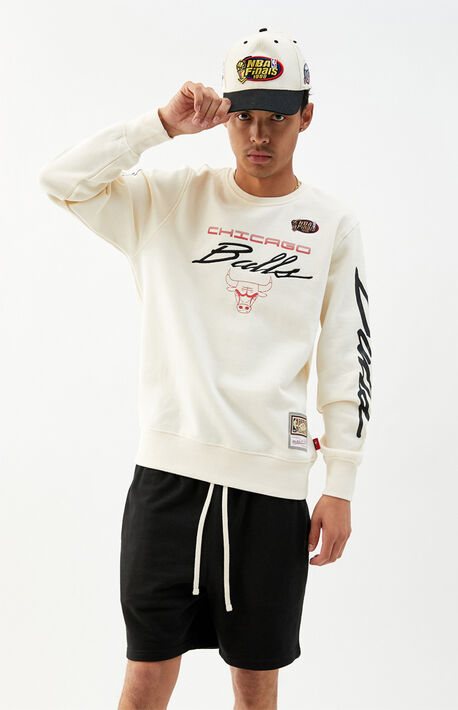Bulls Flames Crew Neck Sweatshirt