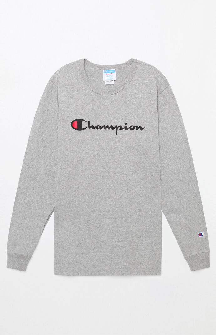 Champion Heritage Script Long Sleeve T-Shirt  28c7a37654ba