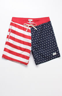 "Spirit Stars & Stripes 17"" Swim Trunks"
