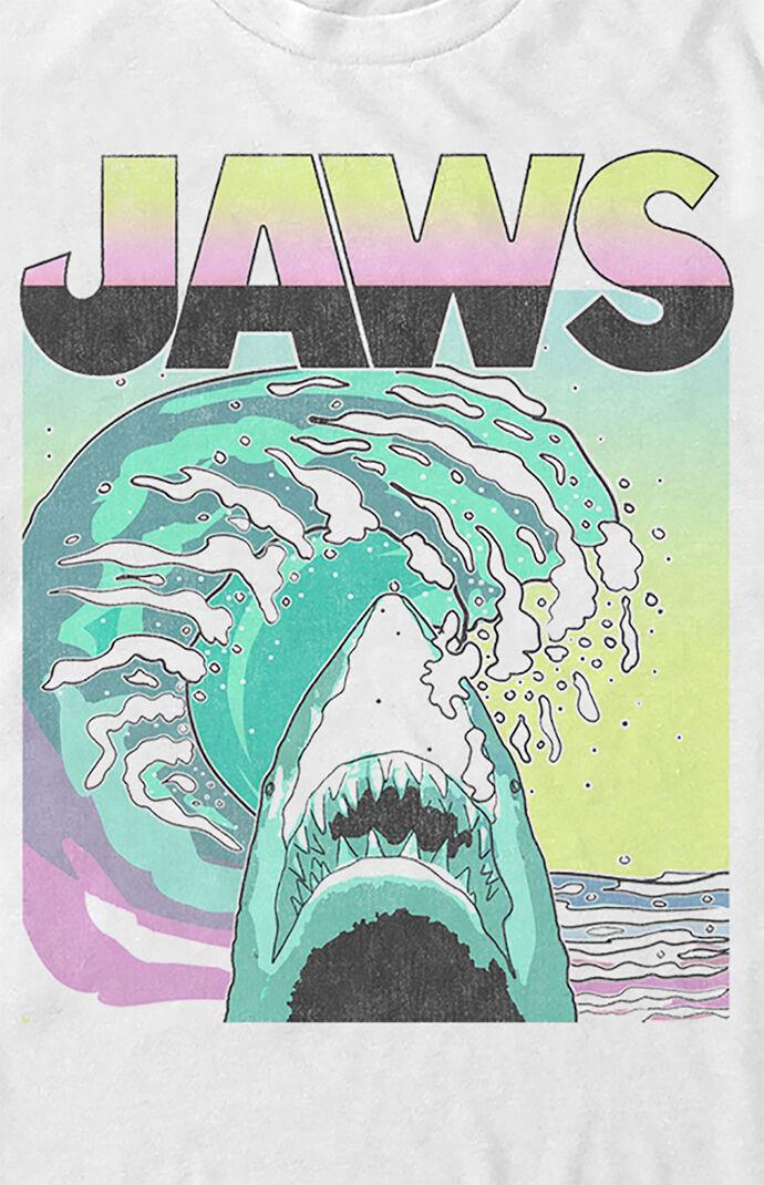 Jaws Neon Shark Poster T-Shirt