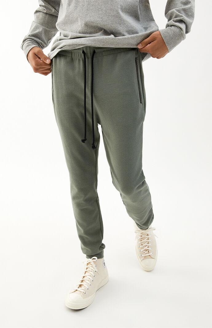Green Zip Pocket Fleece Pants