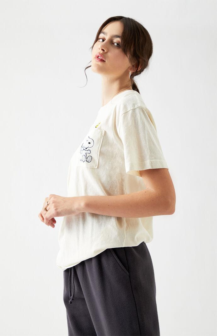 Snoopy Heart Pocket Short Sleeve T-Shirt