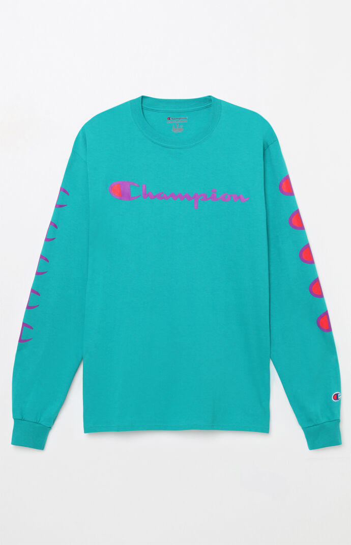 Champion Script Long Sleeve T-Shirt  677a3003e17c