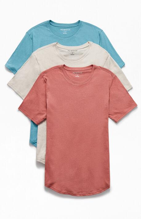Three Pack Hardin Scallop T-Shirts