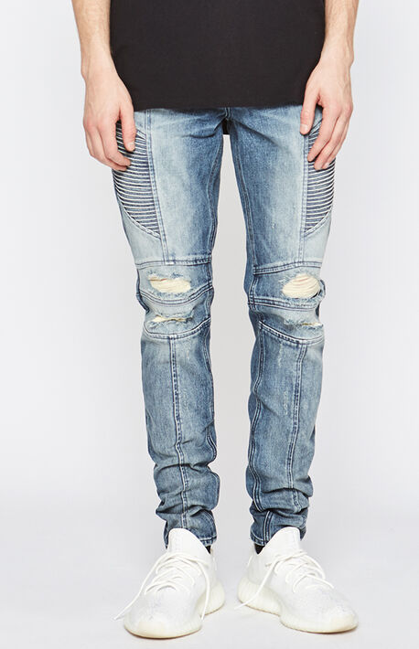 824ca678 Stacked Skinny Ripped Moto Medium Jeans