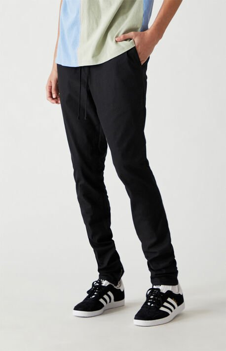 Black Drop Skinny Jogger Pants