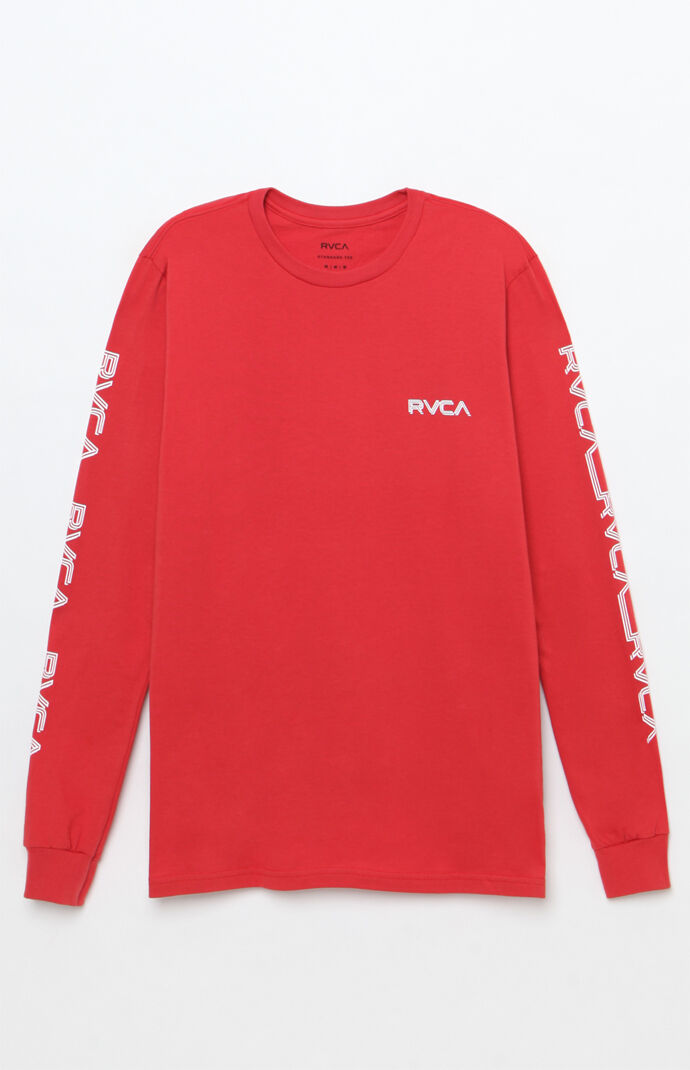 Rvca Lobitos Long Sleeve T-Shirt - RED 7285992