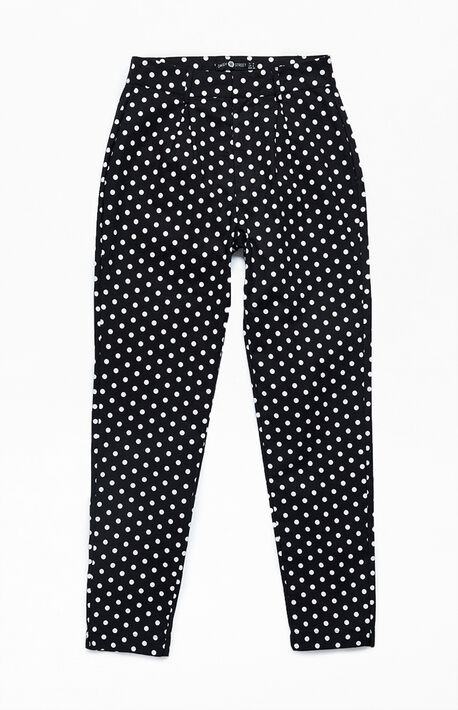 Polka Dot Cigarette Trouser Pants