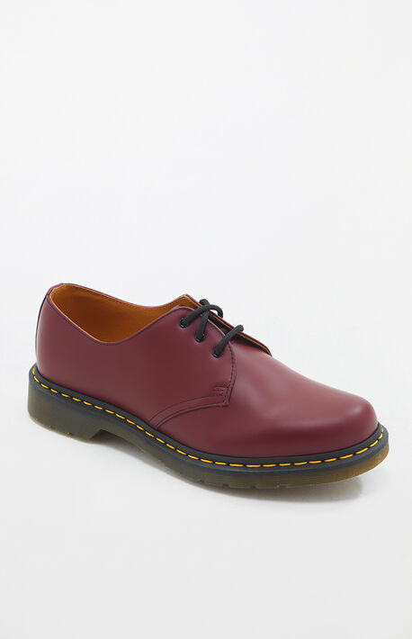 1461 Smooth Leather Cherry Red Shoes