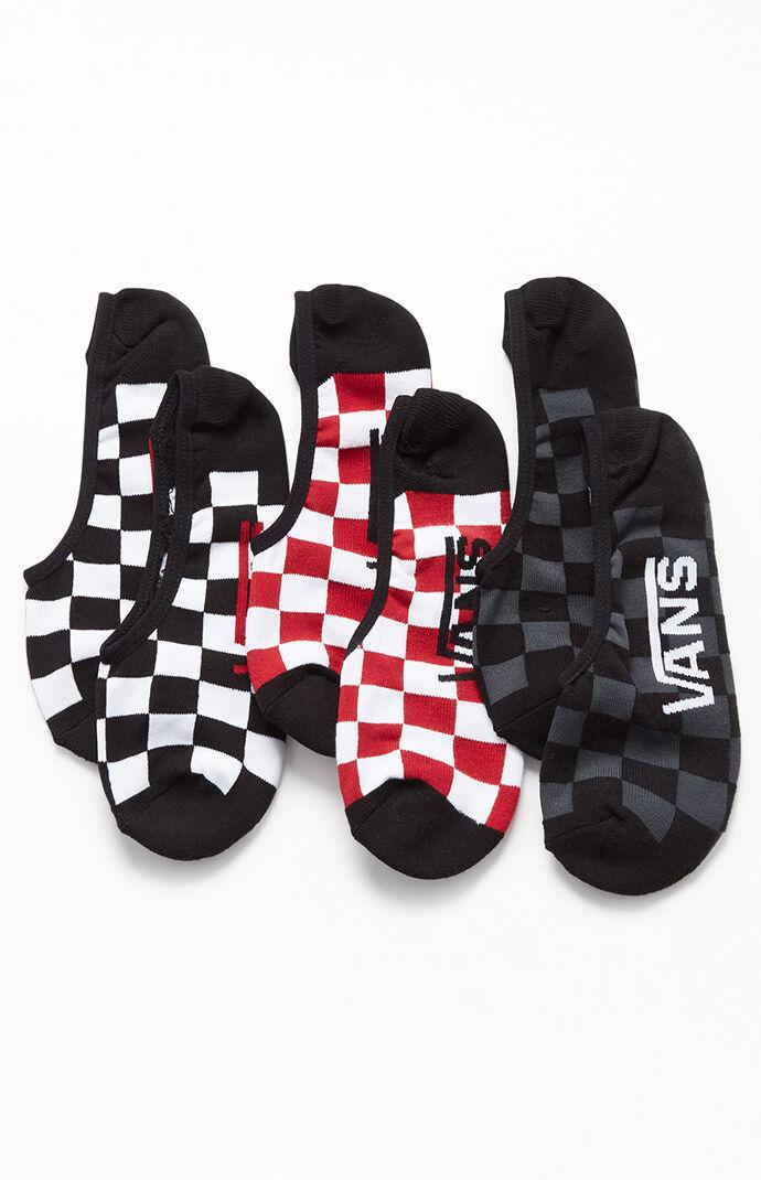 Three Pack Checker Classic Super No-Show Socks
