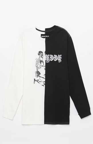 Split Graphic Long Sleeve T-Shirt