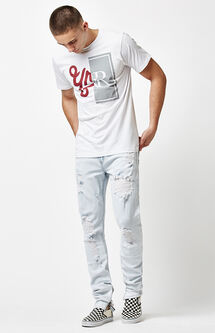 Robertson Bleach Destroyed Tapered Jeans