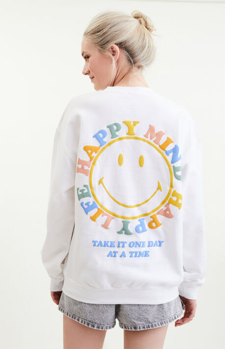 x Smiley Peace Of Mind Happy Mind Crew Neck Sweatshirt