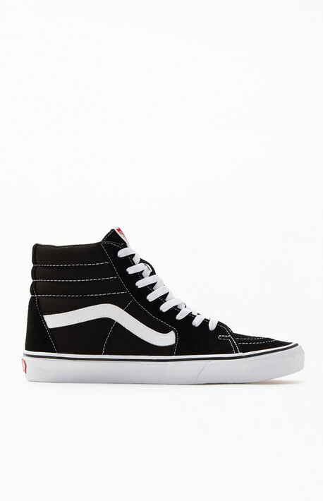 6834074b7ca7dc Sk8-Hi Canvas Black  amp  White Shoes