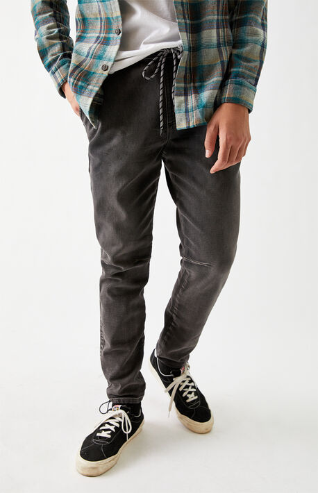 Wessen Black Wash Jogger Pants