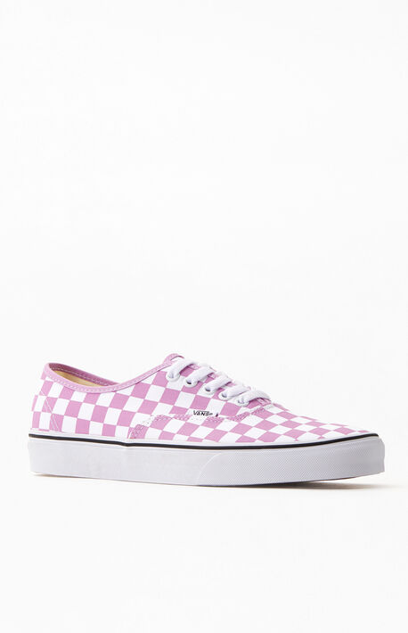 Purple Checkerboard Authentic Sneakers