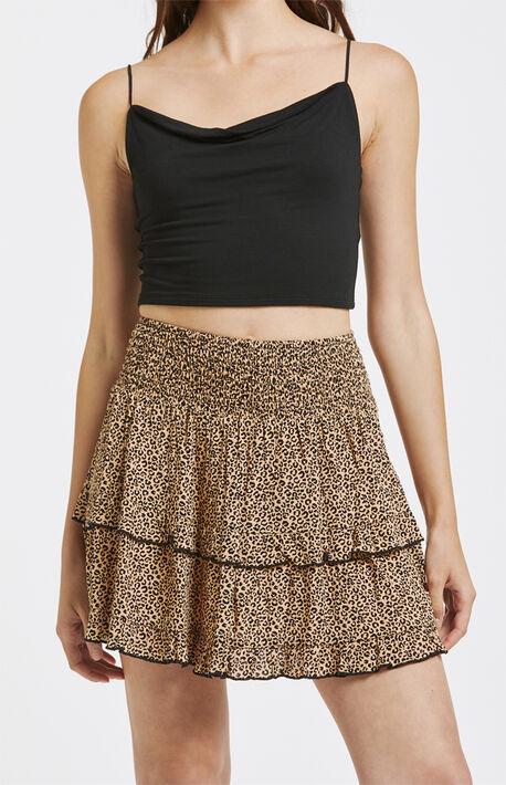 Ruffle Tiered Mini Skirt