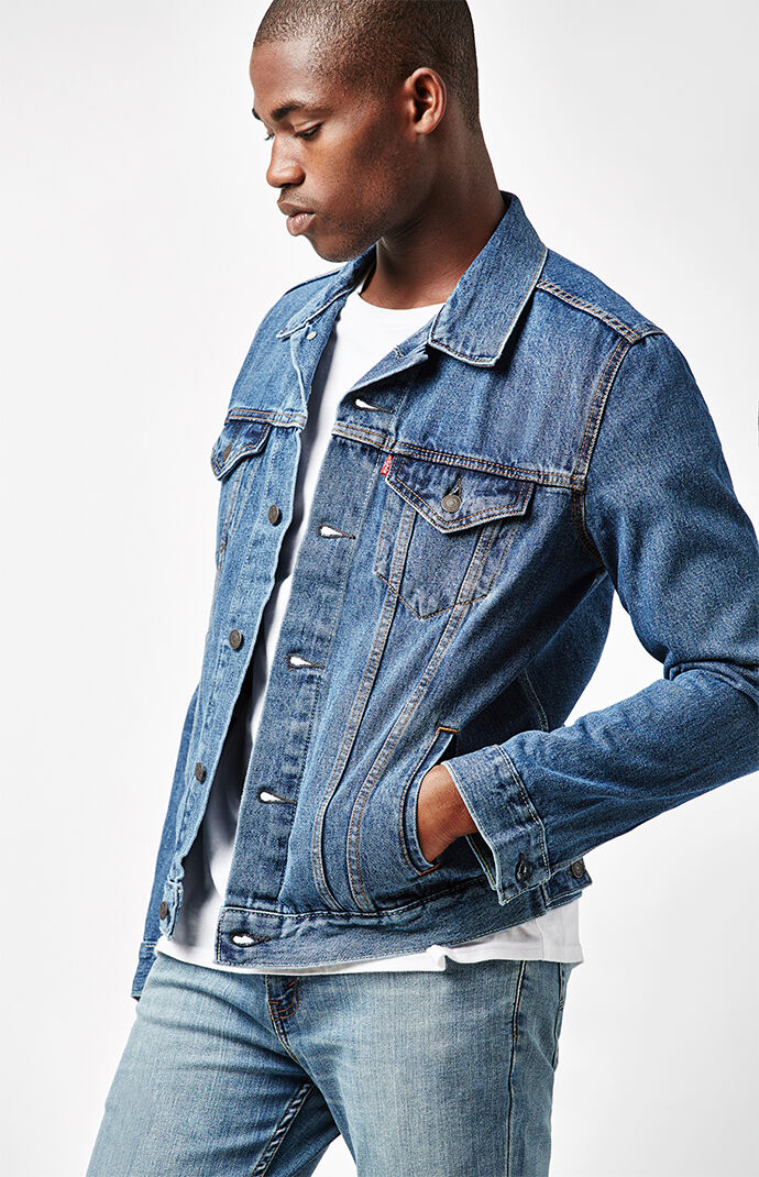 b1be6cbc53 Levi s Stone Wash Denim Trucker Jacket