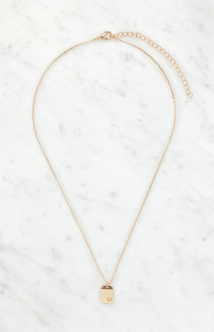 Simple Single Tag Necklace