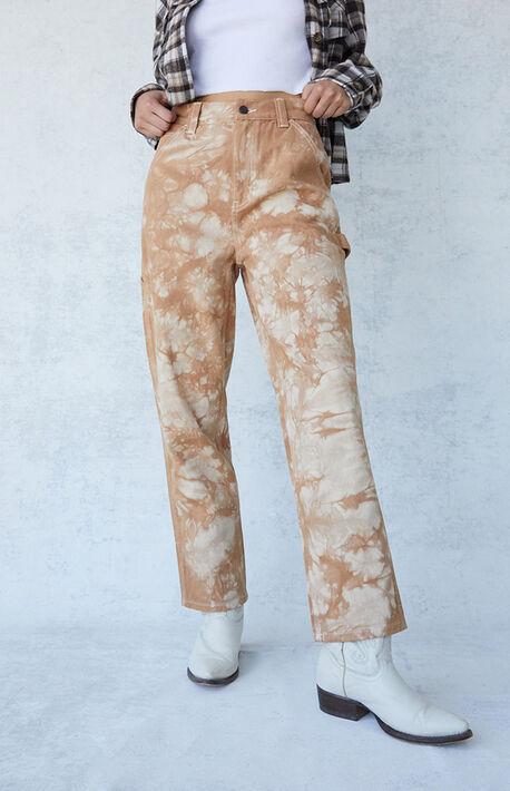 Brown High Waisted Carpenter Pants